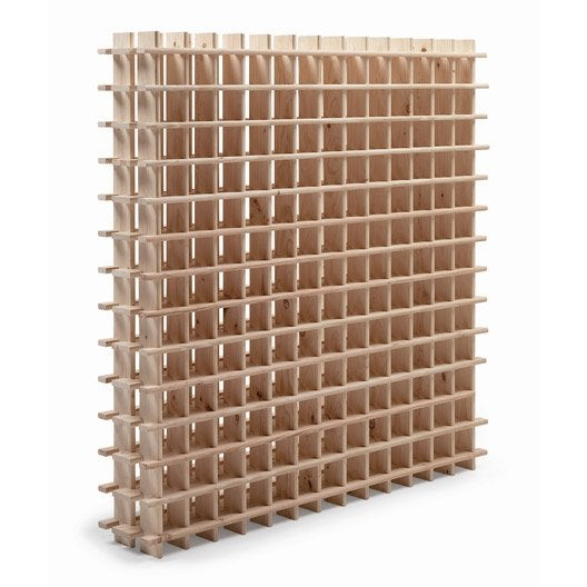 Casier de 169 bouteilles en pin brut - Leroy merlin casier rangement ...