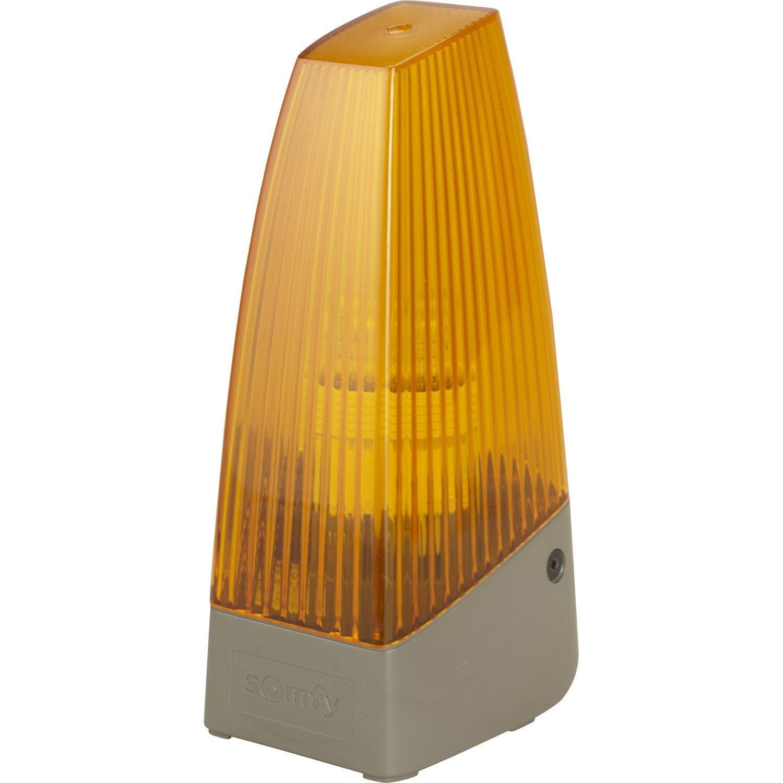 feu clignotant orange pour motorisation de portail somfy leroy merlin. Black Bedroom Furniture Sets. Home Design Ideas