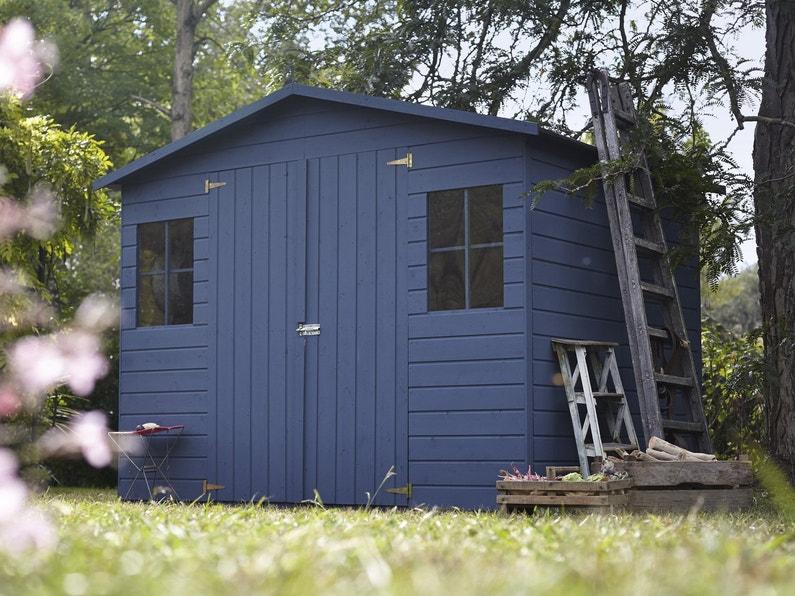 Abris de jardin Kluane en bois bleu | Leroy Merlin