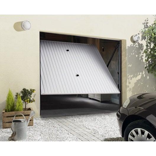 porte de garage basculante manuelle h.200 x l.240 cm | leroy merlin - Serrure Porte De Garage Basculante Leroy Merlin
