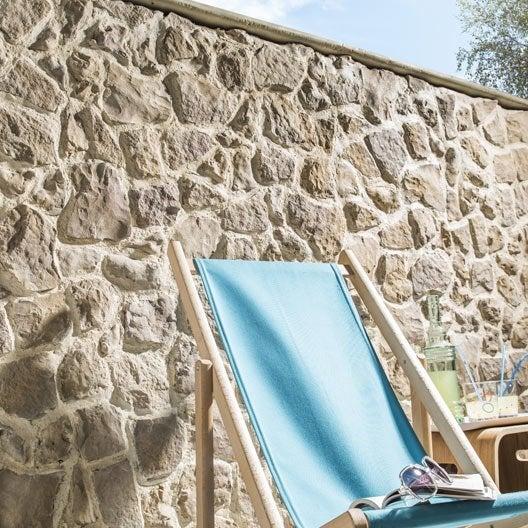 plaquette de parement b ton beige nuanc easyblock florac leroy merlin. Black Bedroom Furniture Sets. Home Design Ideas