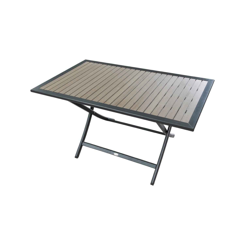 Table de jardin Compo rectangulaire brun / marron 4 personnes ...