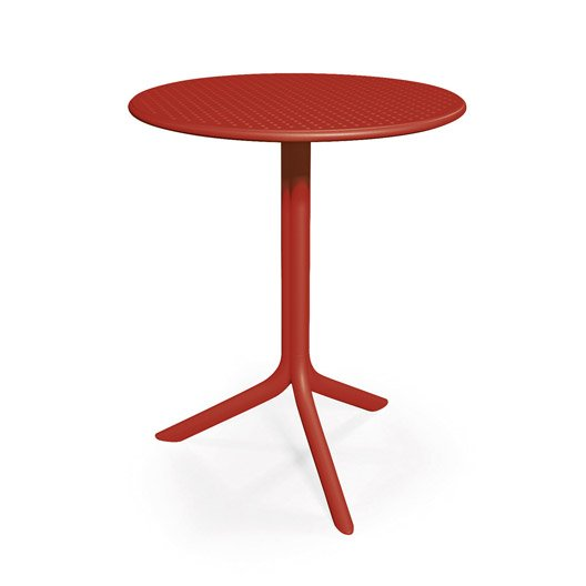 Table nardi bora ronde rouge 2 personnes leroy merlin - Table ronde rouge cuisine ...
