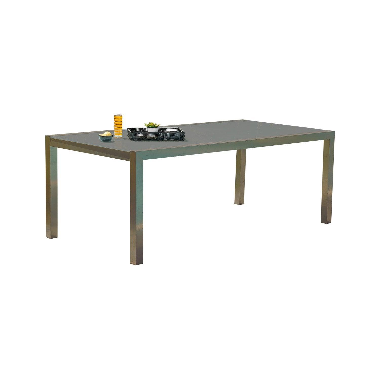 Table De Jardin London Rectangulaire Brun Marron 8 Personnes  # Table De Jardin Ludon