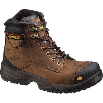 Chaussures sécurité hautes CATERPILLAR Spiro btp s3, coloris marron T40