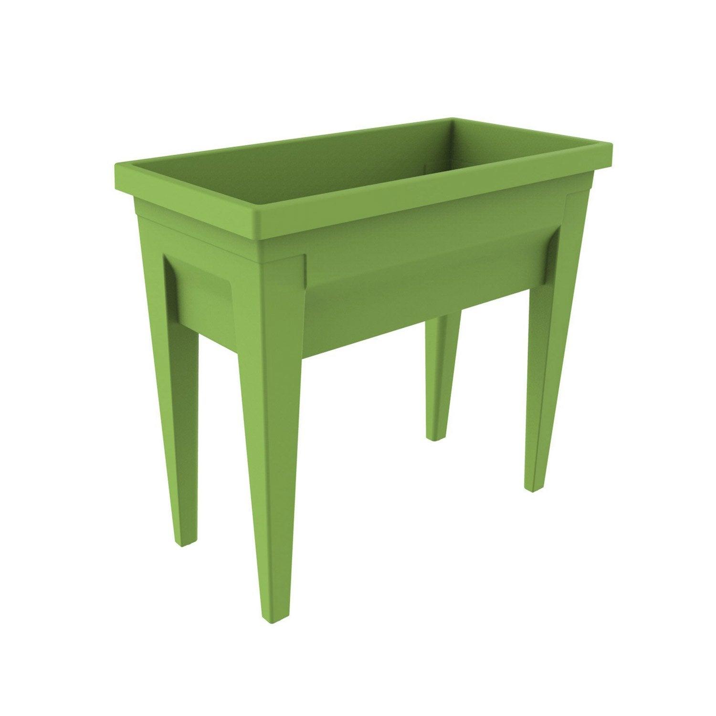 Potager sur pieds EDA PLASTIQUES vert L.76 x l.38.5 x H.68 cm ...