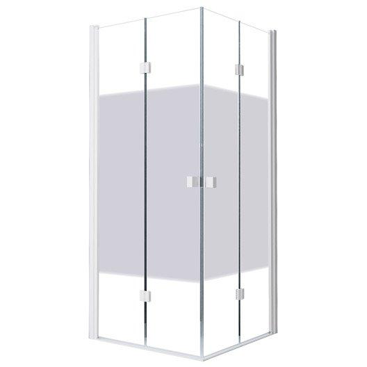 Porte de douche angle carr cm x cm s rigraphi neo leroy merlin - Porte de douche 90 ...