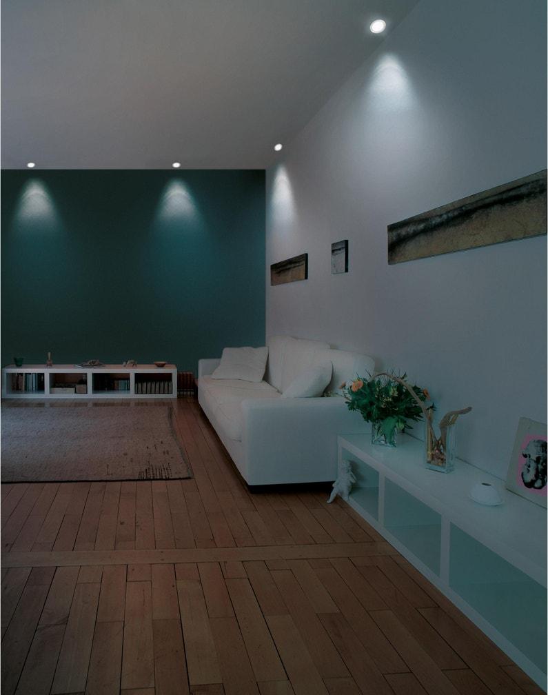 Bandeau Led Encastrable Plafond kit 1 spot connecté à encastrer led, blanc / couleurs, diam 12cm, acier