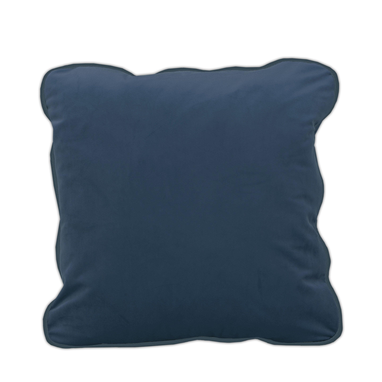 Housse de coussin Velvet, bleu H.50 x l.50 cm