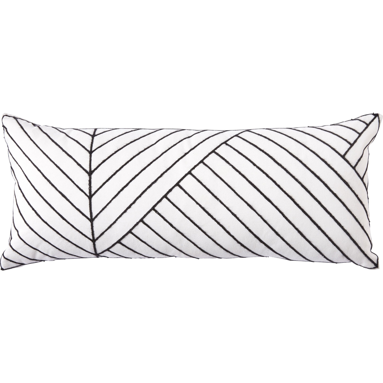 Coussin Alecto INSPIRE, blanc / noir l.70 x H.30 cm