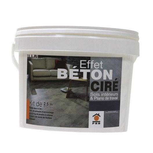 B ton effet cir gris galet prb leroy merlin - Plan de travail beton cire leroy merlin ...