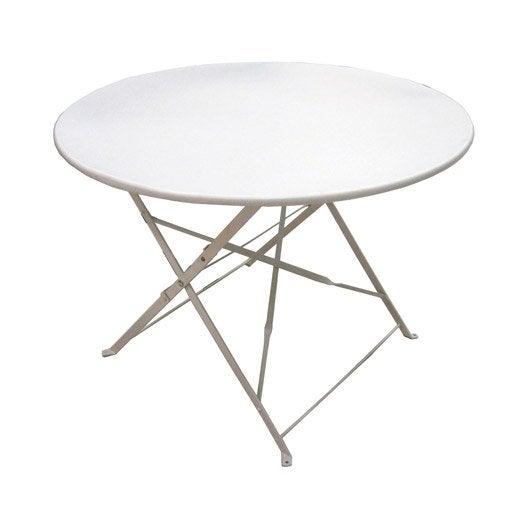 Table De Jardin Ronde Flore Leroy Merlin