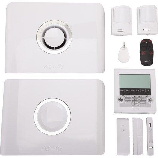 alarme maison sans fil somfy protexiom 5000 gsm blanc leroy merlin. Black Bedroom Furniture Sets. Home Design Ideas
