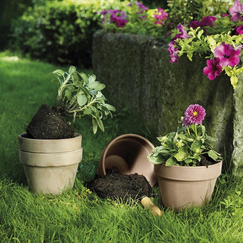 Des pots en terre cuite pour le jardin leroy merlin - Bordure de jardin ancienne en terre cuite ...