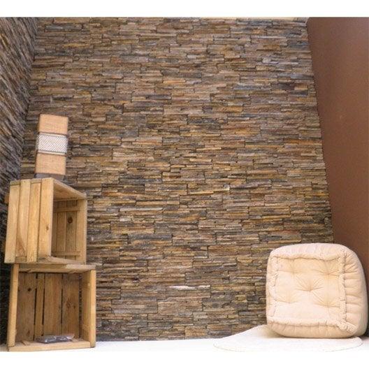plaquette de parement pierre naturelle multicolore alpestre leroy merlin. Black Bedroom Furniture Sets. Home Design Ideas