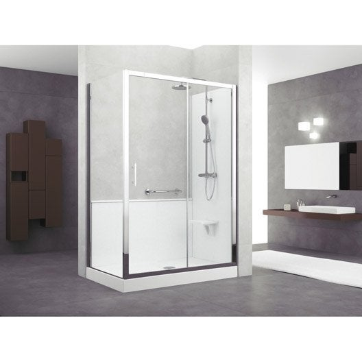 kit de remplacement baignoire par douche entre 2 murs 140 x 70 cm elyt evolution leroy merlin. Black Bedroom Furniture Sets. Home Design Ideas