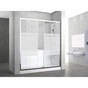 Kit de remplacement baignoire par douche entre 3 murs 160 x ...