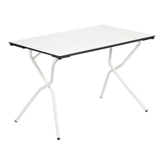 table de jardin lafuma anytime rectangulaire blanc 2. Black Bedroom Furniture Sets. Home Design Ideas