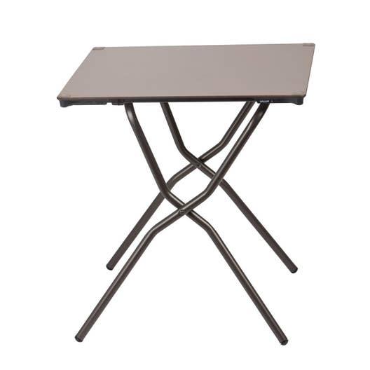 Table de jardin LAFUMA Anytime carrée taupe 2 personnes | Leroy Merlin
