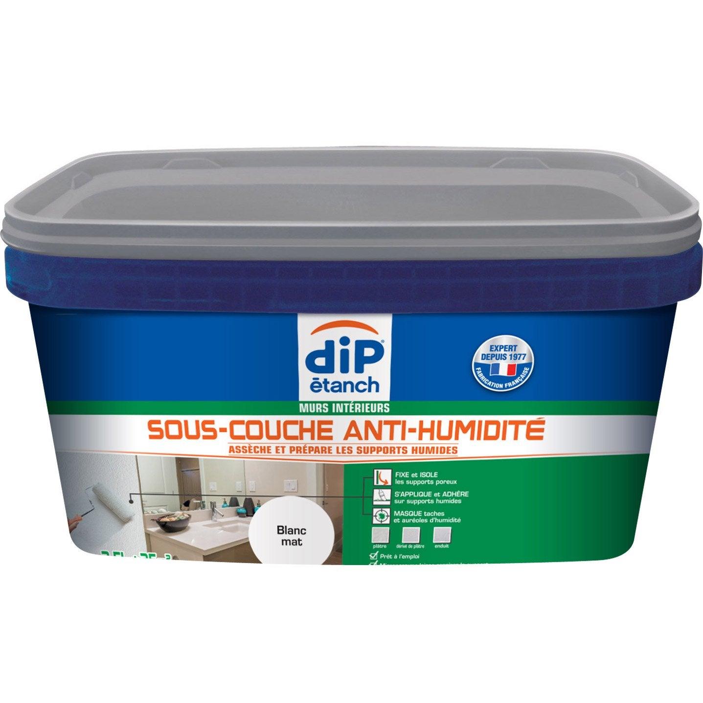 Sous Couche Antihumidité, DIP Blanc 2.5 L Idees