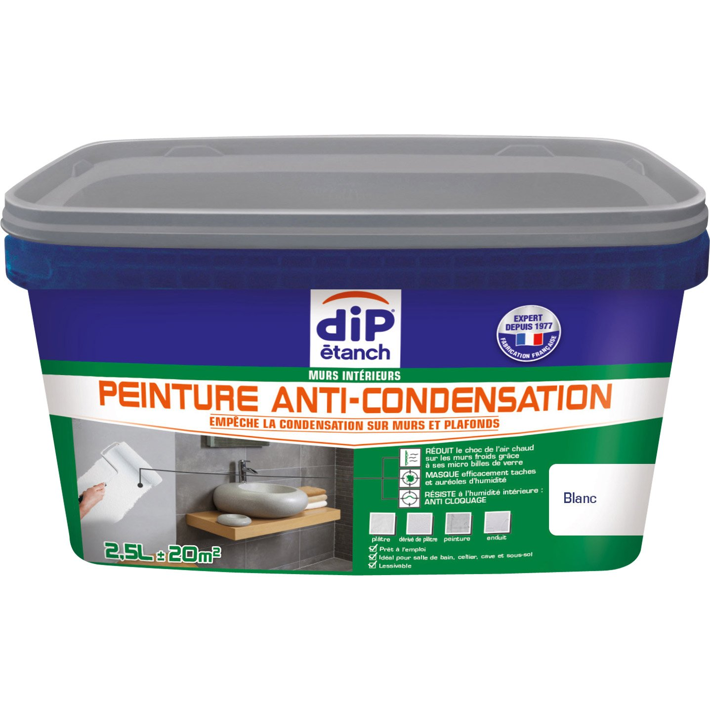 Peinture anti condensation dip blanc 2 5 l leroy merlin - Peinture anti condensation ...