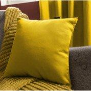 Coussin Roma INSPIRE, jaune anis n°4, l.35 x H.35 cm
