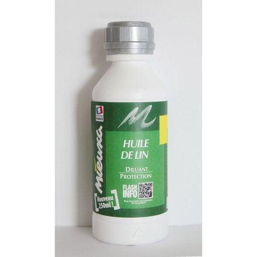 huile de lin mieuxa, 250 ml | leroy merlin