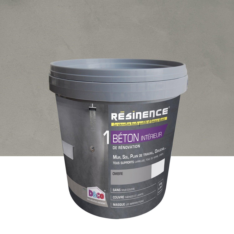Enduit Béton RESINENCE, Gris Ombre, 4 L