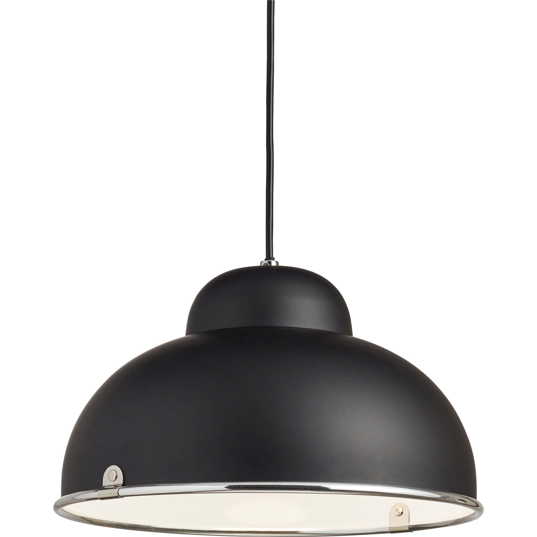 Suspension, E27 style industriel Farell métal noir 1 INSPIRE