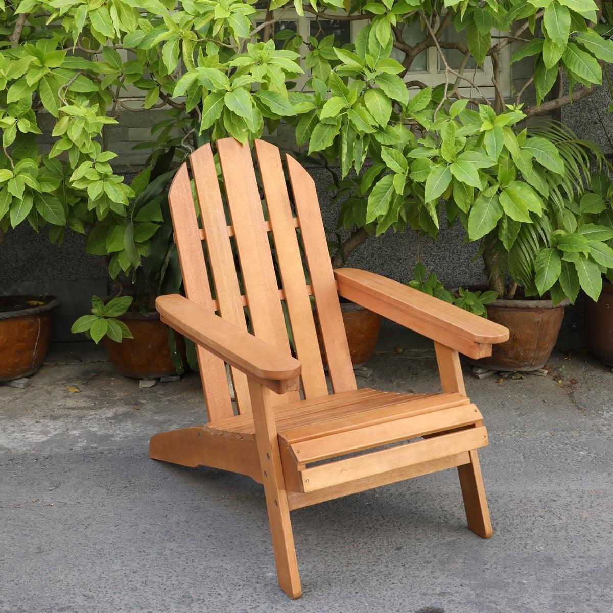 fauteuil bas de jardin type adirondack en eucalyptus fsc. Black Bedroom Furniture Sets. Home Design Ideas