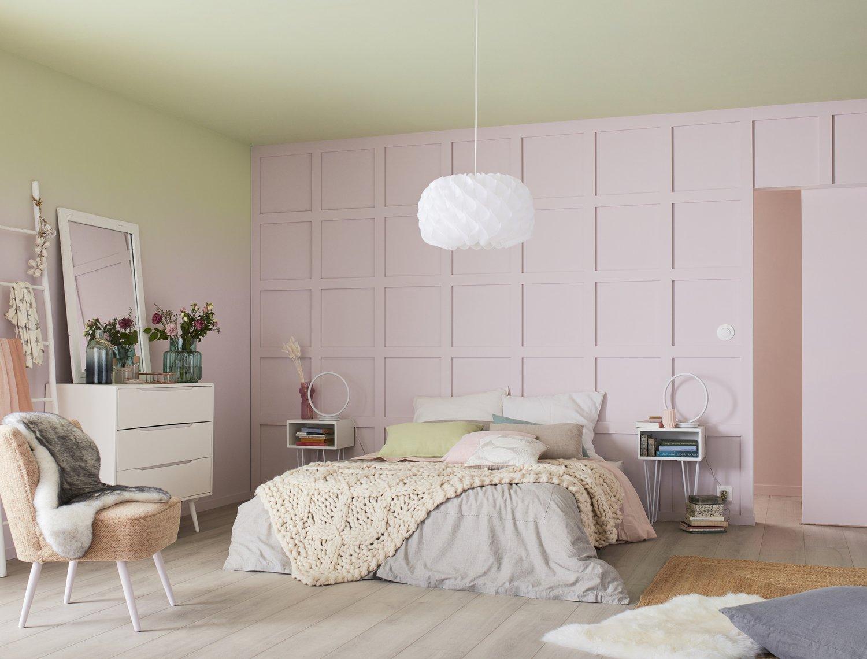 Chambre Rose Poudré Fille du rose dans la chambre d'une ado | leroy merlin