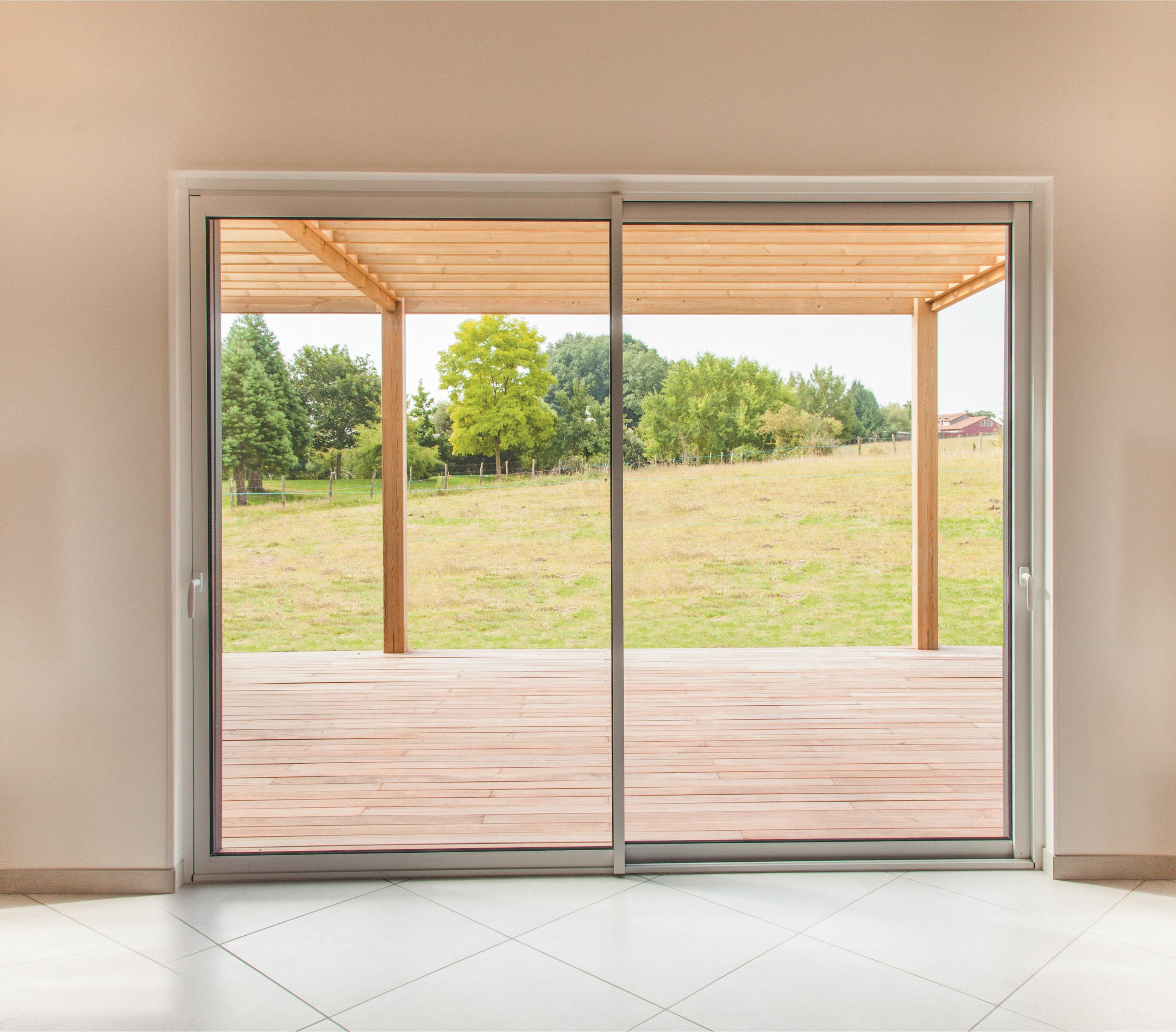 Rideaux Baie Vitrée Coulissante baie vitrée aluminium blanc brico premium h.200 x l.240 cm