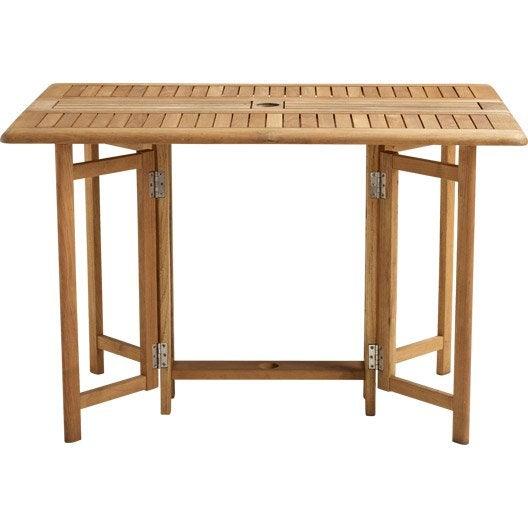 Table de jardin naterial robin rectangulaire miel 6 - Table rabattable leroy merlin ...