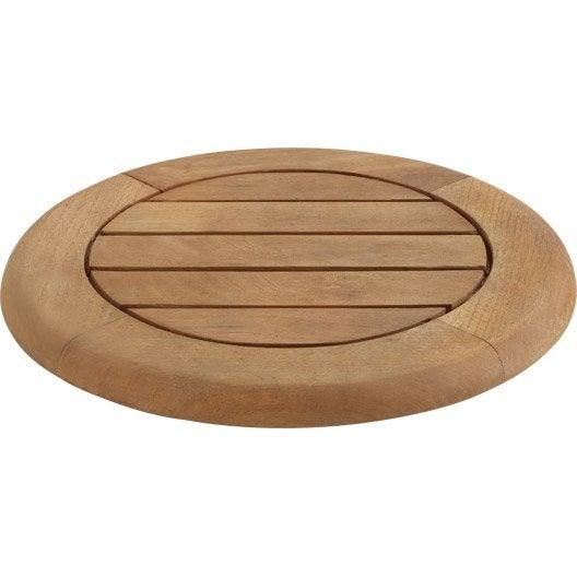plateau de table rond robin naterial leroy merlin. Black Bedroom Furniture Sets. Home Design Ideas