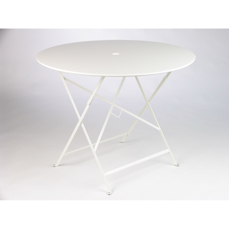 Bistro 4 blanc Table jardin ronde de de personnes FERMOB repas EDHe2IYW9