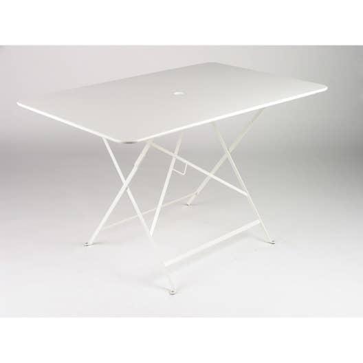 table de jardin fermob bistro rectangulaire blanche 6. Black Bedroom Furniture Sets. Home Design Ideas
