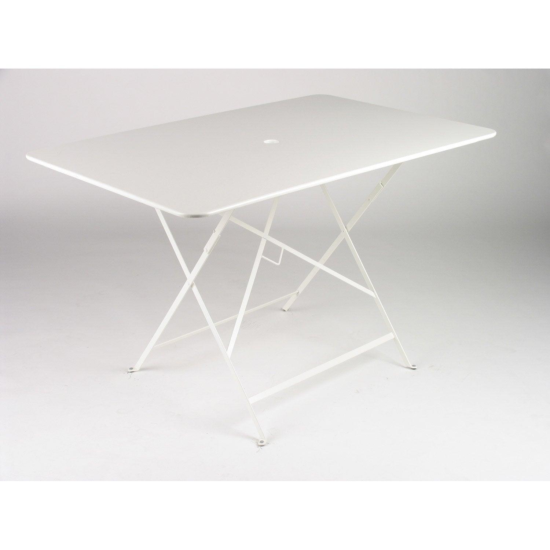 Table de jardin de repas FERMOB Bistro rectangulaire blanc 6 ...