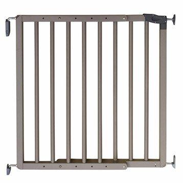 Barrière de sécurité enfant Nevada gris galet, long. min/max: 70/106cm, H75cm