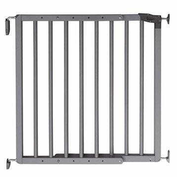 Barrière de sécurité enfant Nevada gris doré bois, long.min/max: 70/106cm, H75cm