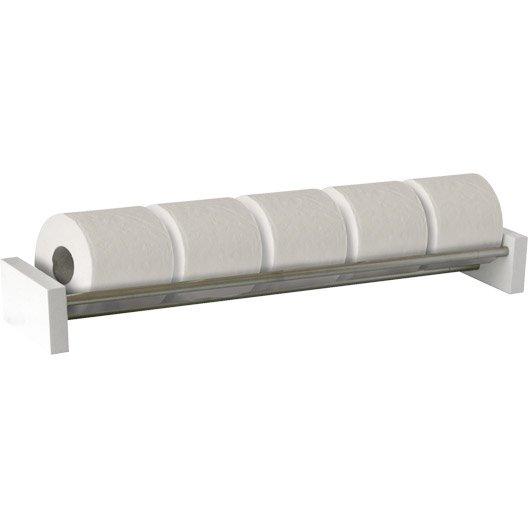 Rangement papier toilette x x p 7 3 cm blanc for Rangement papier toilette blanc