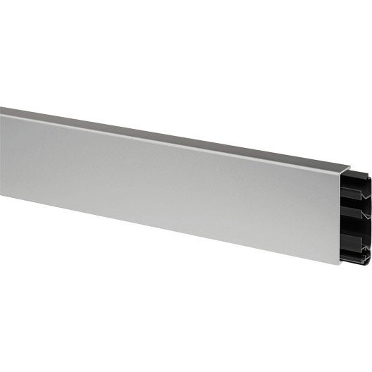 Plinthe aluminium h 8 x p 2 cm leroy merlin for Portail en plastique