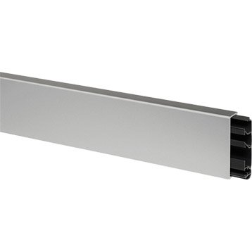 Plinthe aluminium pour plinthe, H.8 x P.2 cm