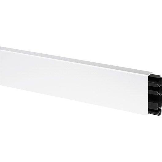 Plinthe blanc, H. 8 x P.2 cm