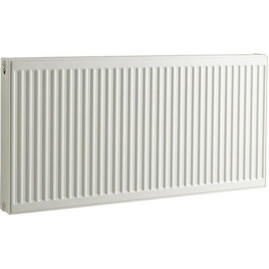 Radiateur chauffage central blanc cm 2054 w leroy merlin - Radiateur chauffage central hauteur 40 cm ...