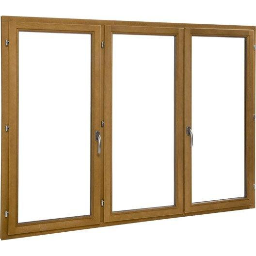 Porte fen tre bois primo 3 vantaux ouvrant la fran aise for Porte fenetre en bois
