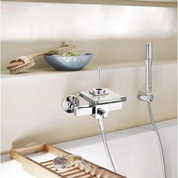 Mitigeur mécanique de baignoire cascade chromé brillant Cristali