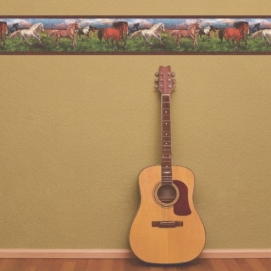 frise vinyle adh sive cheval l 5 m x cm leroy merlin. Black Bedroom Furniture Sets. Home Design Ideas