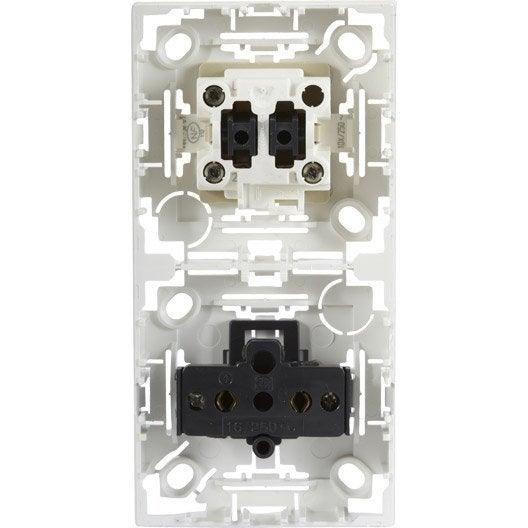 Interrupteur et prise sans terre saillie Profil, ARNOULD, blanc