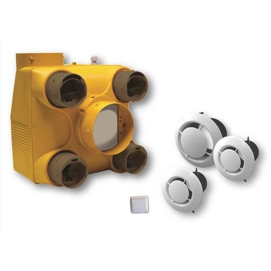vmc ventilation m canique contr l e vmc a rateur et d shumidificateur leroy merlin. Black Bedroom Furniture Sets. Home Design Ideas