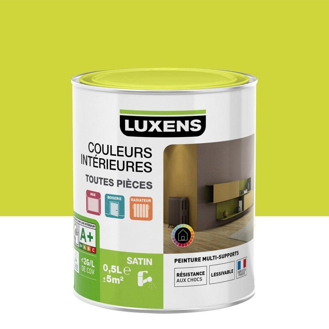 Peinture Jaune Anis 3 Satin Luxens Couleurs Int Rieures Satin 0 5 L